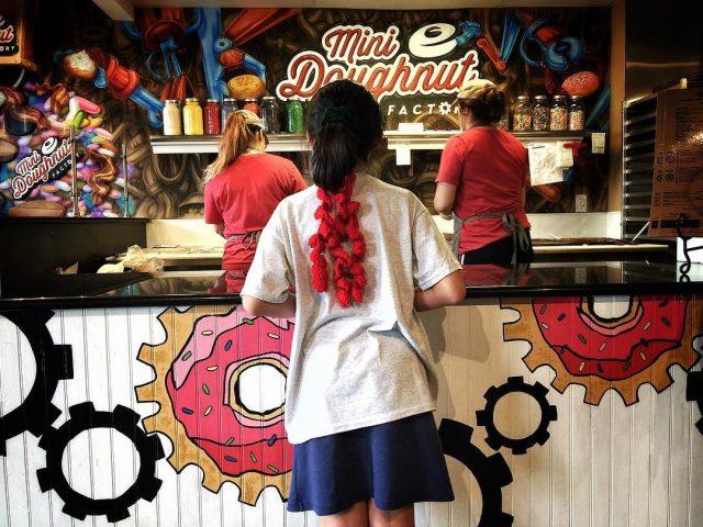 Sabine at Mini Doughnuts